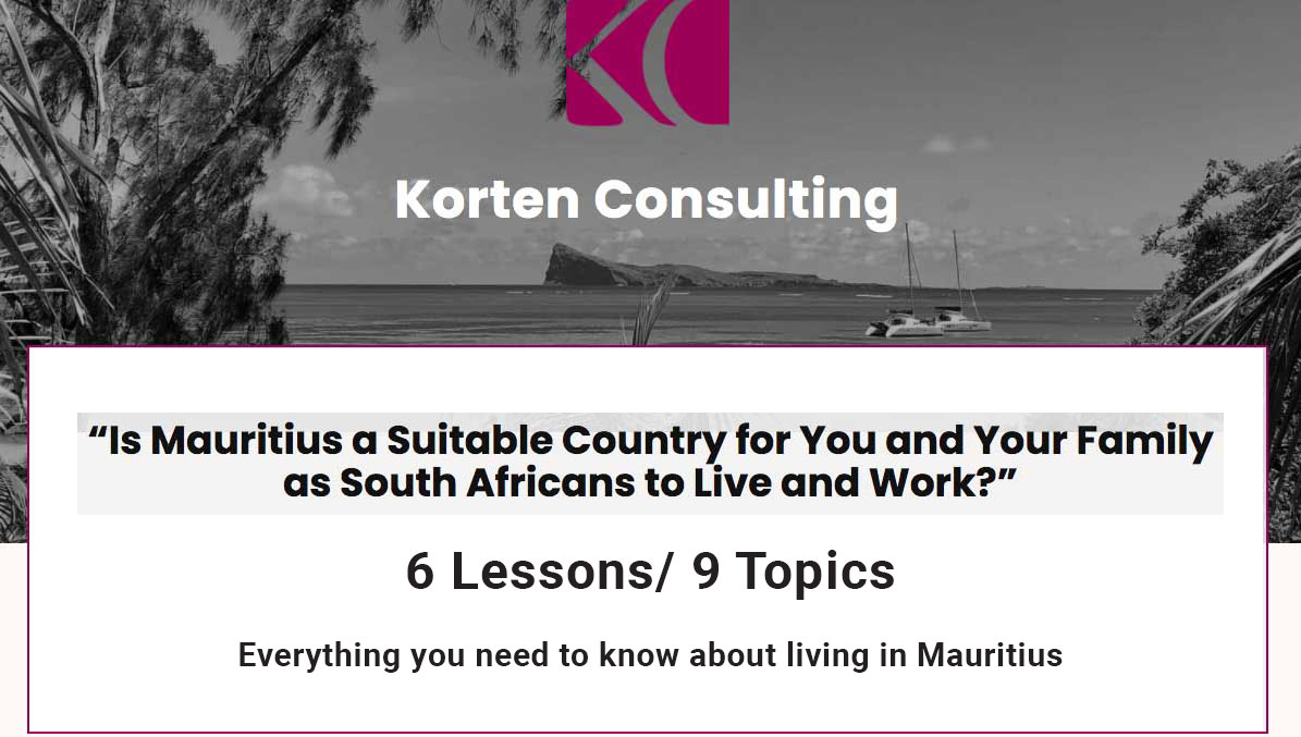 Is Mauritius a Suitable Country for You and Your Family as South Africans to Live and Work?